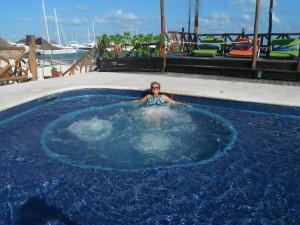 Exploramum and Explorason - Sea Adventure Resort & Waterpark Cancun Mexico - jacuzzi pools