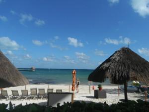 Exploramum and Explorason - Sea Adventure Resort & Waterpark Cancun Mexico - beach