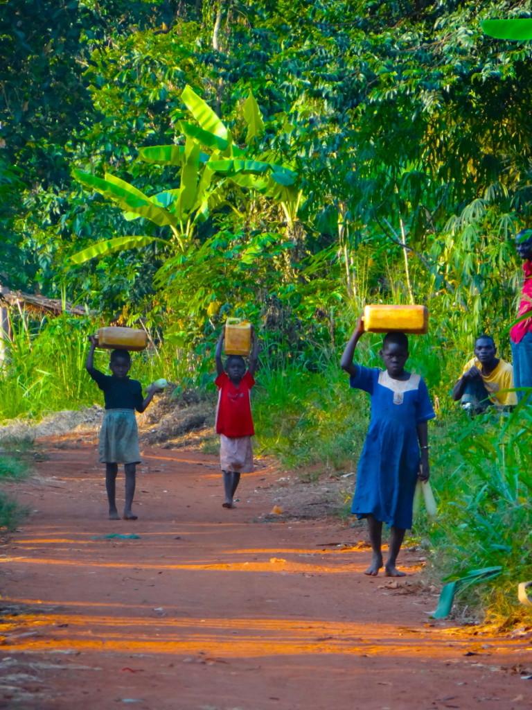 carrying water in Uganda