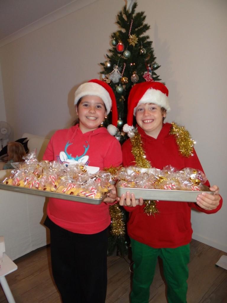 Giving Christmas Cookies