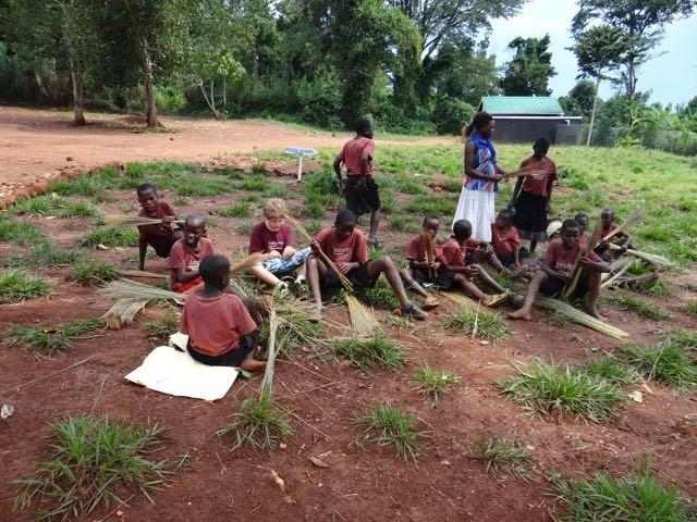 Uganda school lesson