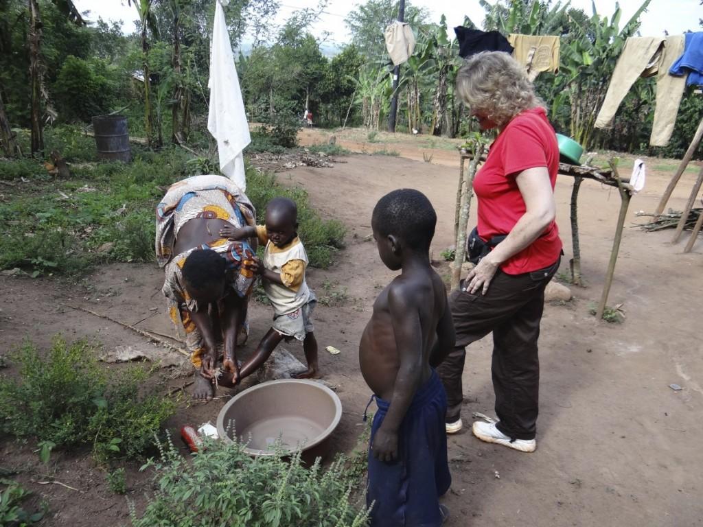 Sharing love in Uganda
