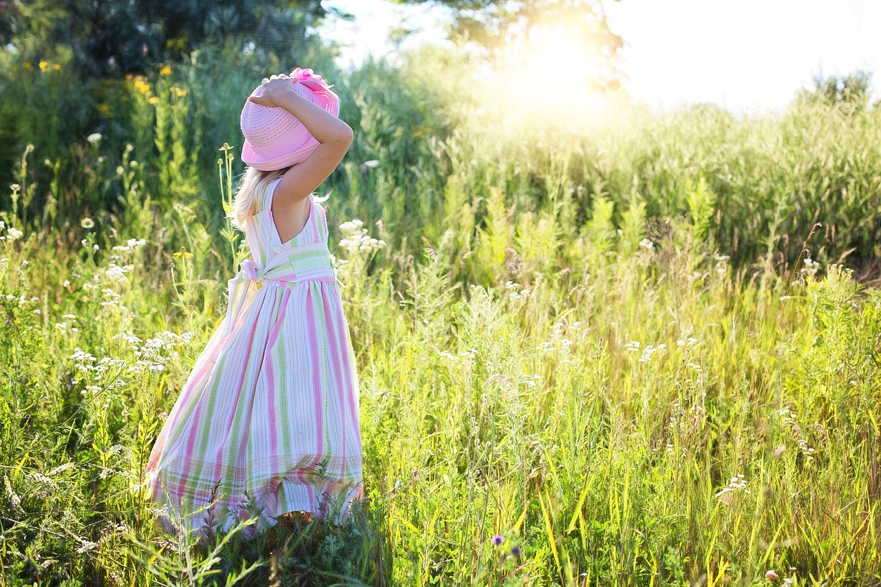 Royalty-Free image from Pixabayhttps://pixabay.com/en/little-girl-wildflowers-meadow-2516582/