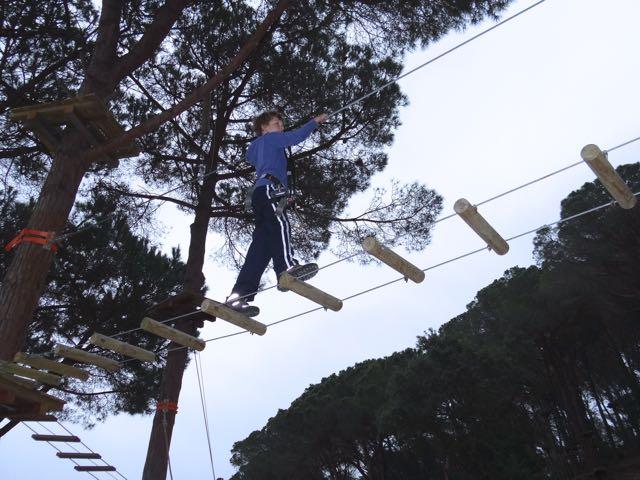 rope climbing activities